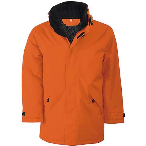 Kariban Parka Padded Jacket Orange/Black