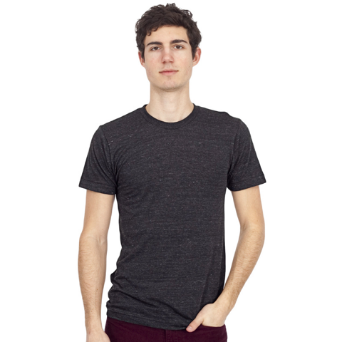 American Apparel Unisex Tri-blend Short Sleeve Track T
