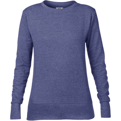 Anvil Womens Mid Scoop French Terry Sweatshirt Ladies Fashion Casual Jumper TOP