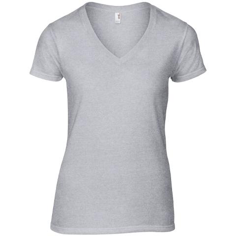 79a81b5ea3c Anvil Women s Fashion Basic V-Neck Tee · View model image