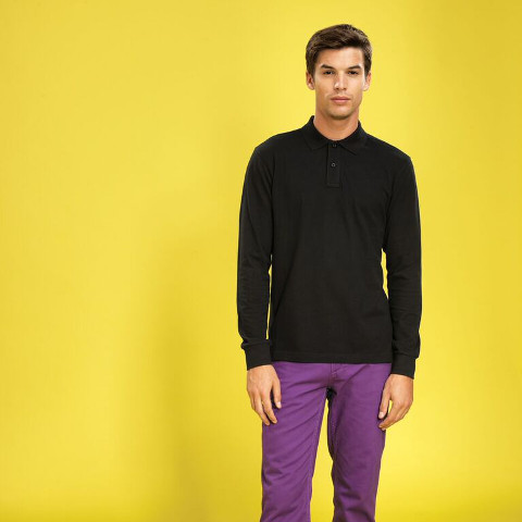 Asquith & Fox Men's Classic Fit Long Sleeved Polo
