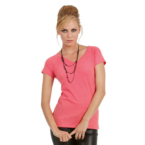 B&C Ladies Blondie Classic V Neck T-Shirt