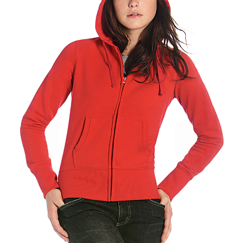 B&C Ladies Hooded Full Zip Sweatshirt