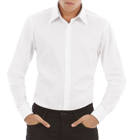 B&C London Long Sleeve Stretch Poplin Shirt