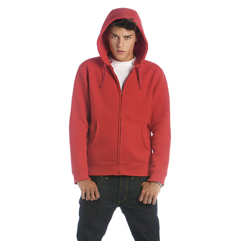 B&C Men's Hooded Full Zip Sweatshirt