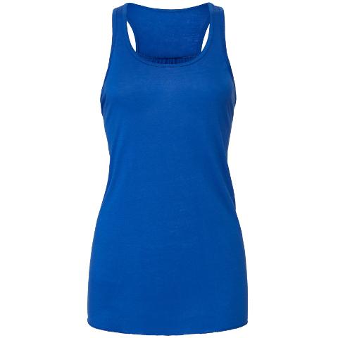 Personalised Ladies Vest Tank Top Custom Printed Strappy Stretch Contrast Vest