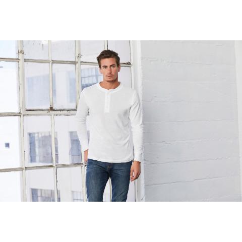 073c93e8 Bella & Canvas Unisex Jersey Long Sleeve Henley T-shirt
