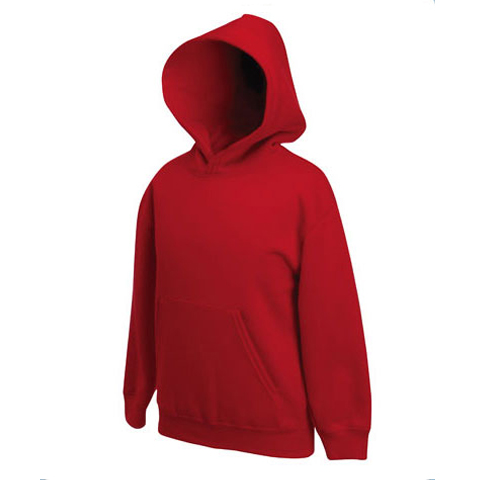 Fruit of the Loom Unisex Kids Zip Front Premium Hooded Sweat