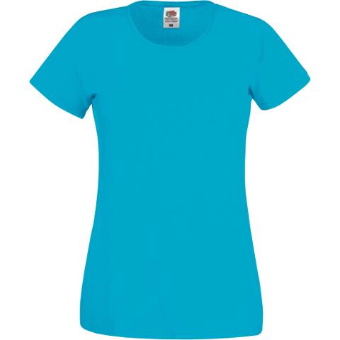 Men/'s Ladies Women/'s Plain Fruit of the Loom Ladyfit T-Shirt Original Shirt Crew