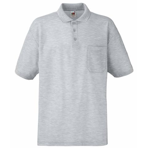 Fruit of the loom pocket polo shirt pocket polo shirt for Two pocket polo shirt