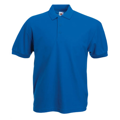 Fruit of the loom poly cotton polo shirt fruit of the for Order custom polo shirts