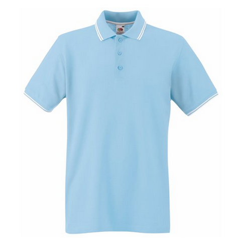 Fruit of the loom tipped pique polo shirt fruit of the for Order custom polo shirts