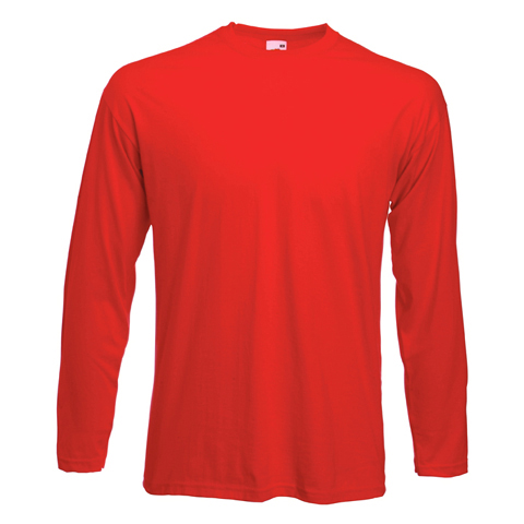 4be7a064cb2 Fruit of the Loom Valueweight Long Sleeve T-Shirt