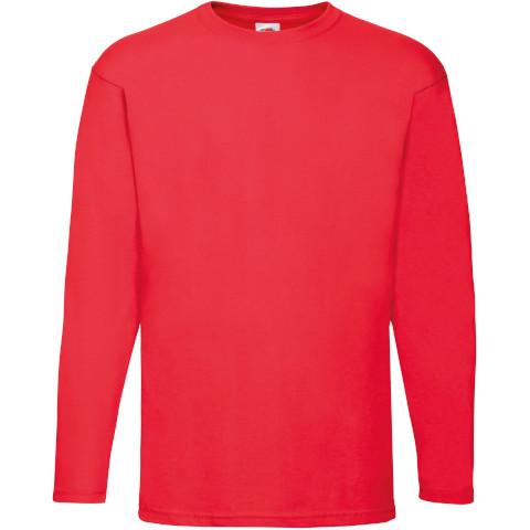 2XL UK Fruit Of The Loom Mens Long Sleeve Baseball Tee Cotton Shirt Top S