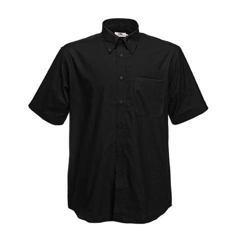 Fruit of the Loom Short Sleeve Oxford Shirt Mens Short