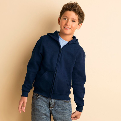 Gildan Children's Full Zip Hooded Sweatshirt