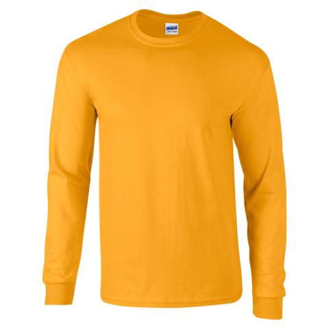 Gildan mens heavyweight long sleeve t shirt premium for Big tall mens long sleeve t shirts