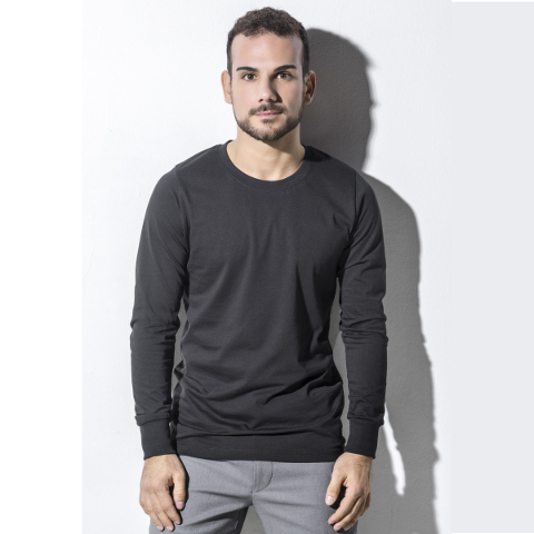 Nakedshirt Men's Jim Organic Long Sleeve T-Shirt