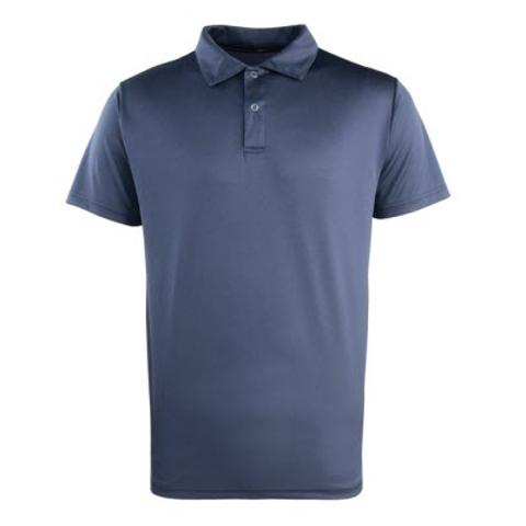 Premier Long Sleeve Coolchecker Pique Polo Shirt Mens Fabric Poloshirts Tops