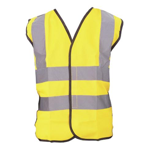 Children High Visibility Safety Waistcoat Vest Jacket Kids Hi Vis Yellow Orange
