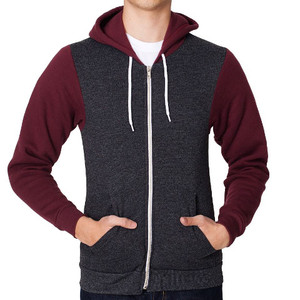 American Apparel Two Tone Flex Fleece Zip Hoodie