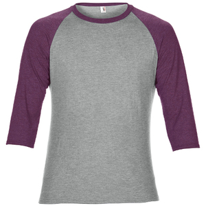 Anvil Men's Tri-Blend 3/4 Sleeve Raglan Tee