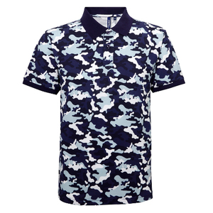 Asquith & Fox Camo Pique Polo