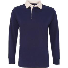 Asquith & Fox Men's Classic Fit Long Sleeve Vintage Rugby Shirt