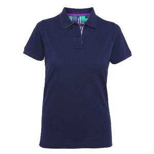 Asquith & Fox Women's Check Trim Polo