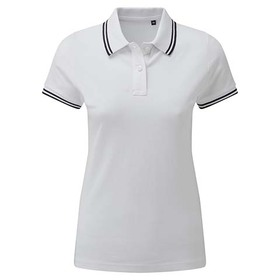 Asquith & Fox Women's Classic Fit Tipped Polo