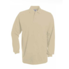 B&C Heavymill Long Sleeve Pique Polo Shirt