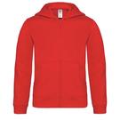 B&C Kids Hooded Full Zip Sweatshirt