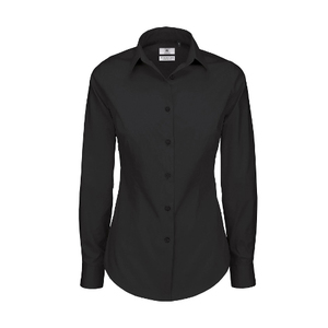 B&C Ladies Black Tie Long Sleeve Shirt