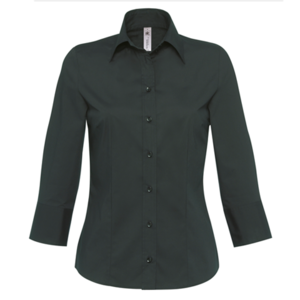 B&C Ladies Milano 3/4 Sleeve Stretch Poplin Shirt