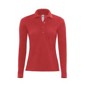 B&C Ladies Safran Pure Long Sleeve Pique Polo Shirt