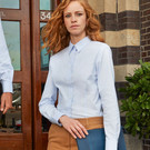 B&C Oxford Ladies Long Sleeve Blouse