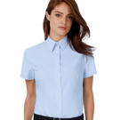 B&C Oxford Ladies Short Sleeve Blouse