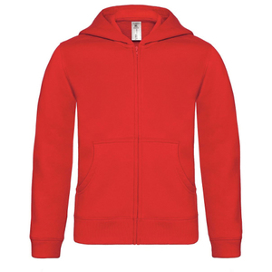B&C Youth Hooded Full Zip Sweatshirt
