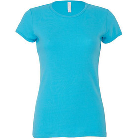 Bella Baby Rib Short Sleeve Crew Neck Tee