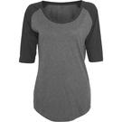 Build Your Brand Women's 3/4 Contrast Raglan T-shirt