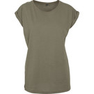 Build Your Brand Women's Extended Shoulder T-Shirt