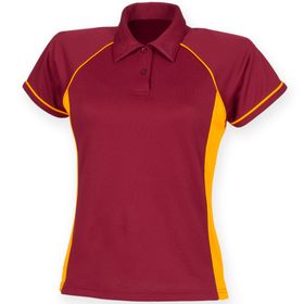 Finden & Hales Ladies Performance Piped Polo Shirt