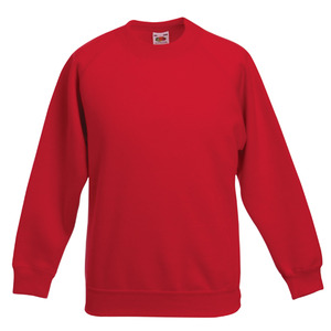 Fruit Of The Loom Premium Children's Raglan Sleeve Sweatshirt
