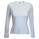Fruit Of The Loom Lady Fit Long Sleeve Crew-Neck T-Shirt
