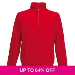 Fruit Of The Loom Premium Zip Neck Sweatshirt *Special Offer*
