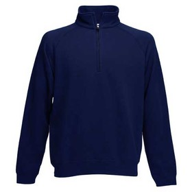 Fruit Of The Loom Premium Zip Neck Sweatshirt