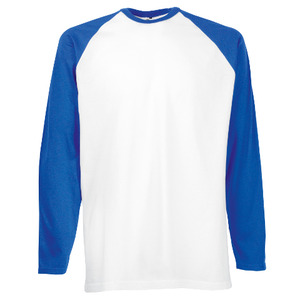 Fruit of the Loom Long Sleeve Baseball T-shirt