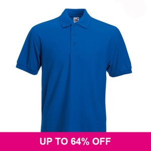 Fruit of the Loom Poly Cotton Heavy Polo Shirt *Special Offer*