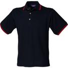 Henbury Contrast Double Tipped Pique Polo Shirt