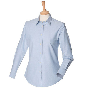 Henbury Women's Classic Long Sleeved Oxford Shirt
